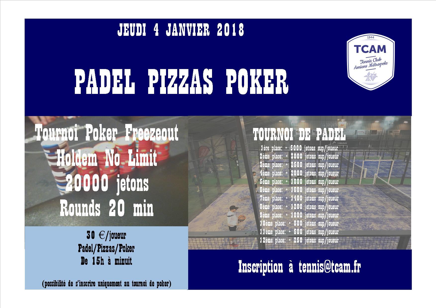 Padel Pizzas Poker